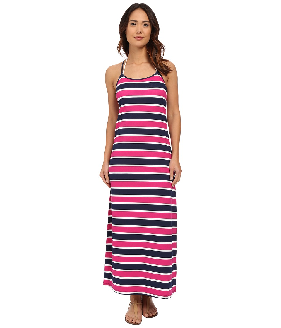 Tommy Bahama - Nautical Long Scoop Neck Dress Cover-Up (Mare Navy) Women's Swimwear