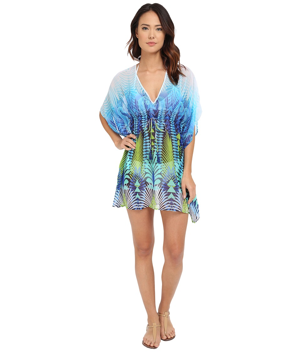 Tommy Bahama - Tropical Jungle Tunic Cover-Up (Multicolor) Women's Swimwear