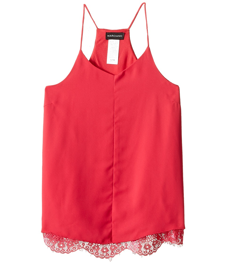 Marciano Kids - Cami w/ Lace Trims (Big Kids) (Hot Pink) Girl's Sleeveless