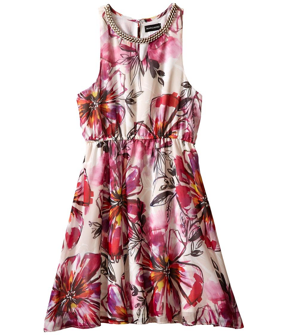 Marciano Kids - Lola Printed Dress w/ Braid Det (Big Kids) (Print) Girl's Dress