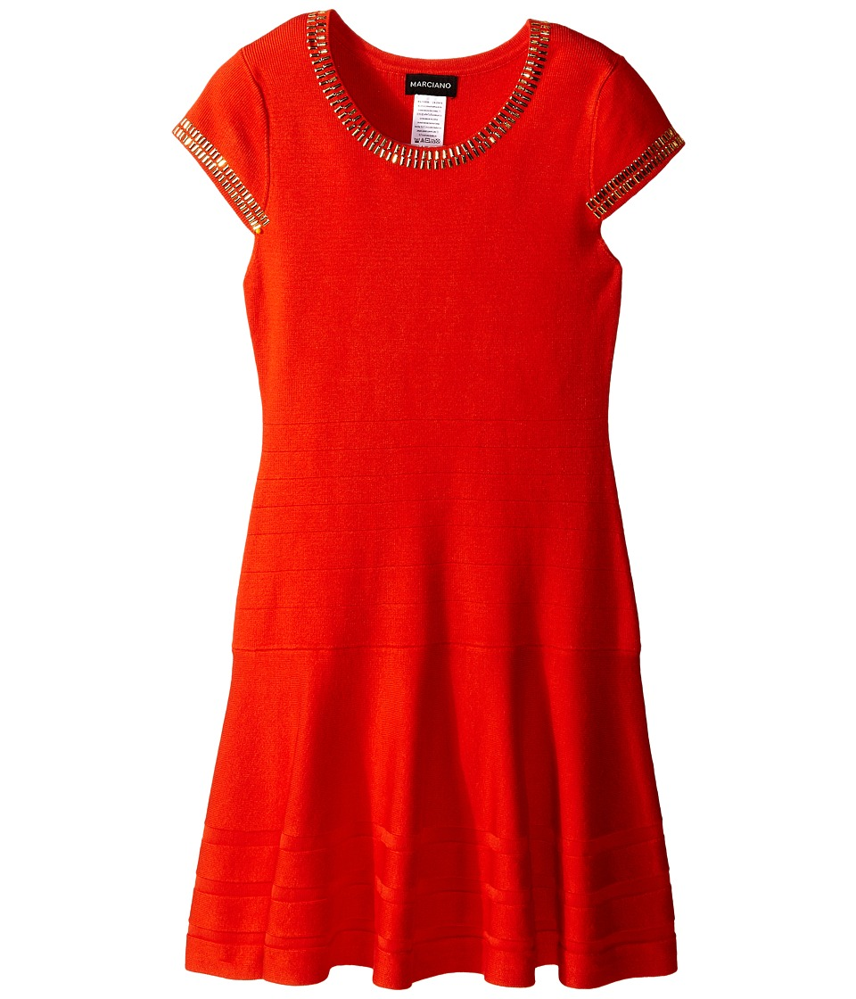 Marciano Kids - Portia Bandage Dress (Big Kids) (Coral) Girl's Dress