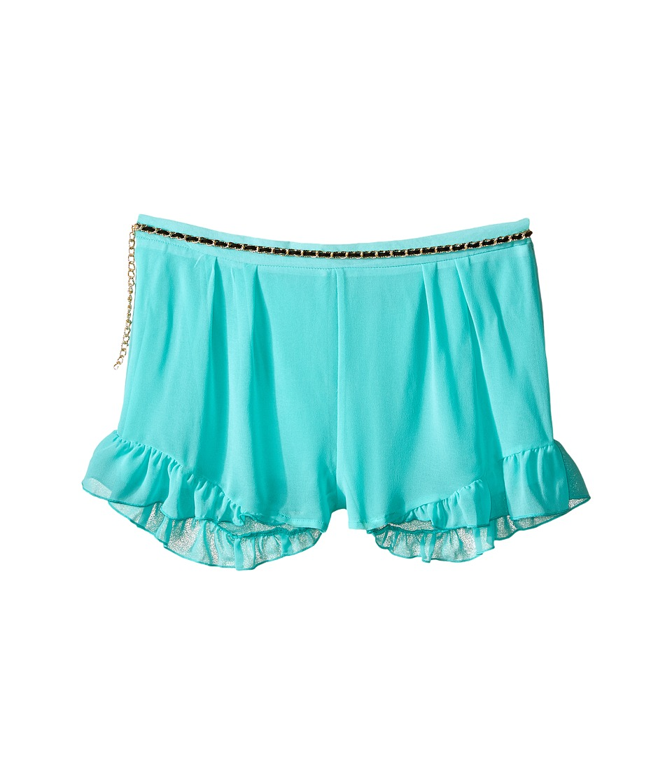 Marciano Kids - Printed Chiffon Shorts w/ Belt (Big Kids) (Aqua) Girl's Shorts