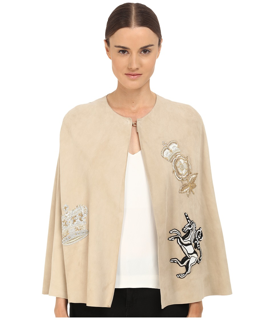 Just Cavalli - Leather Cape (Light Camel) Women's Clothing