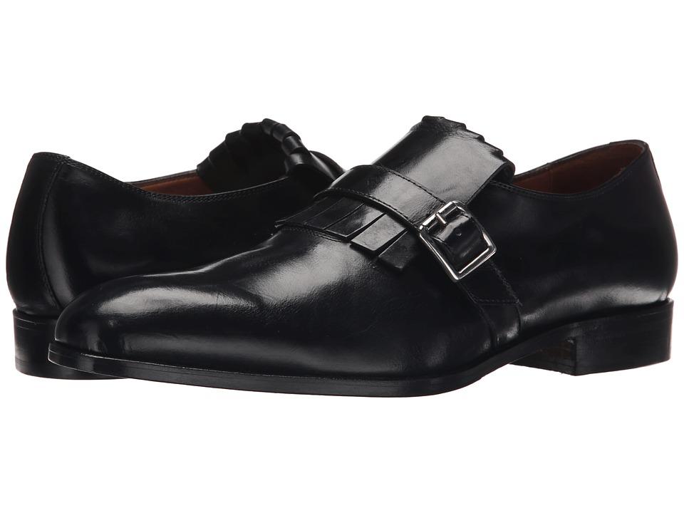 Massimo Matteo - Kilty Monk Strap (Black) Men's Monkstrap Shoes