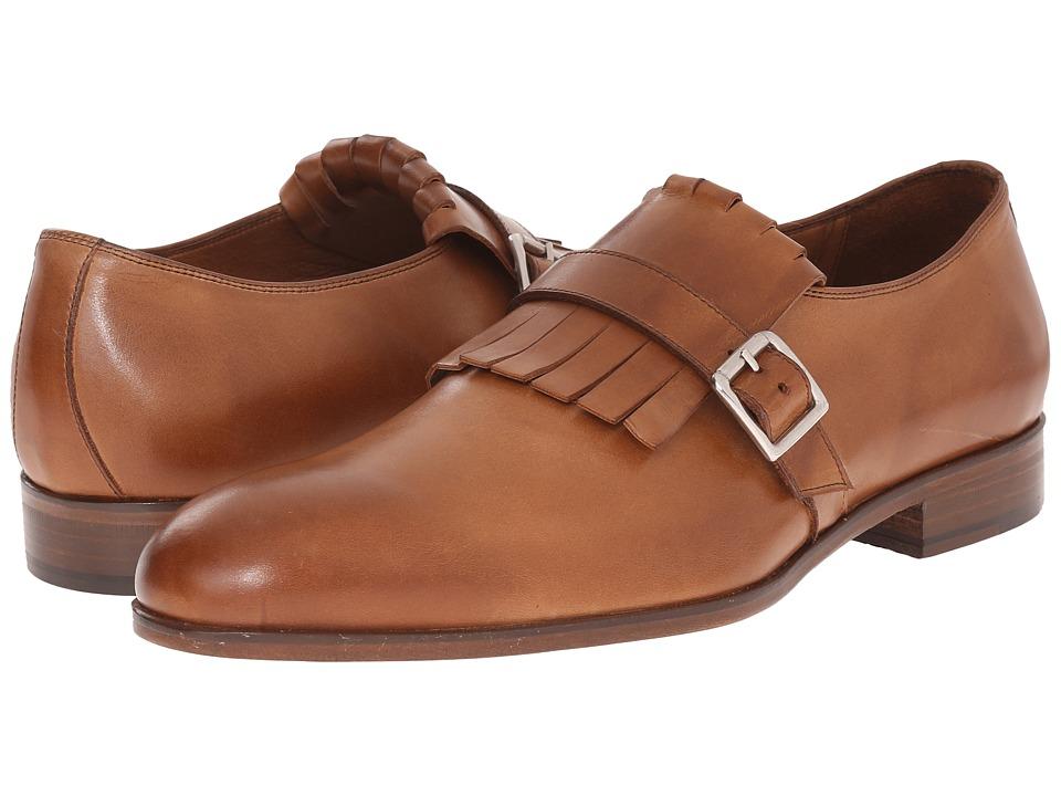 Massimo Matteo - Kilty Monk Strap (Brandy) Men's Monkstrap Shoes
