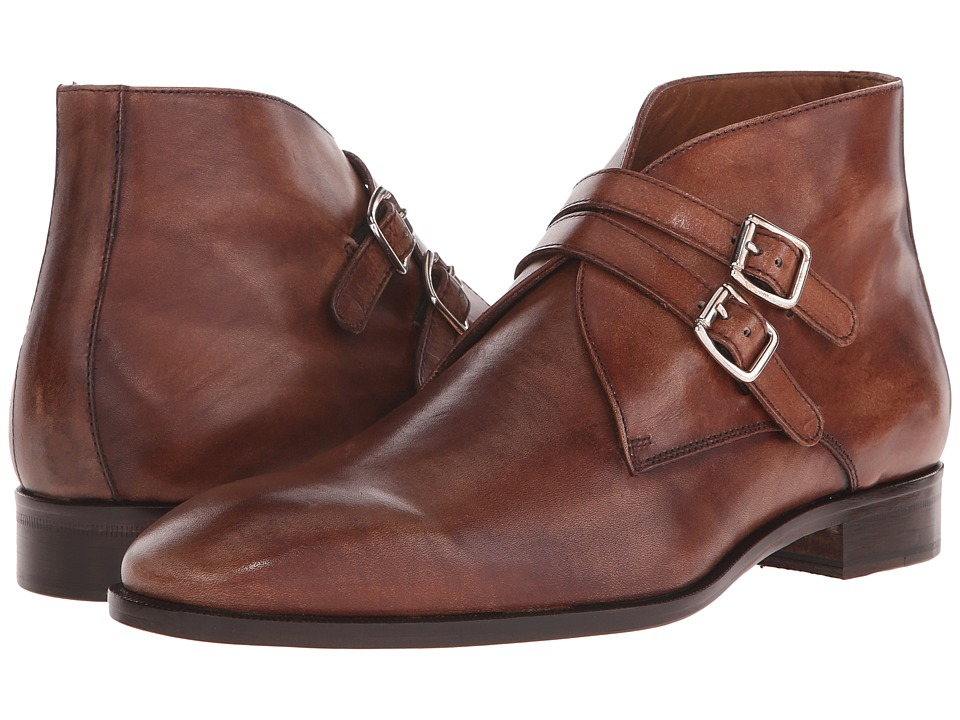 Massimo Matteo - Double Strap Dress Boot (Miele) Men's Boots