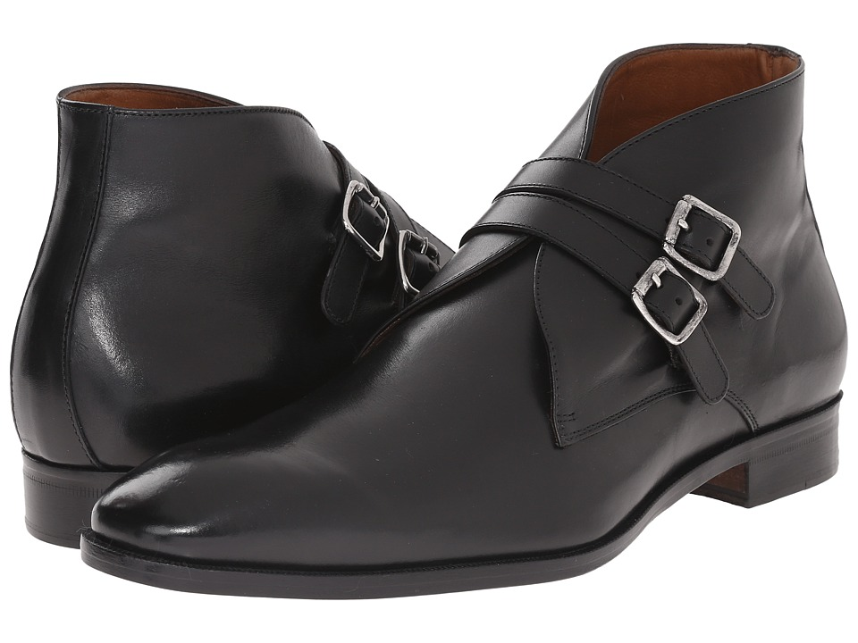 Massimo Matteo - Double Strap Dress Boot (Black) Men's Boots
