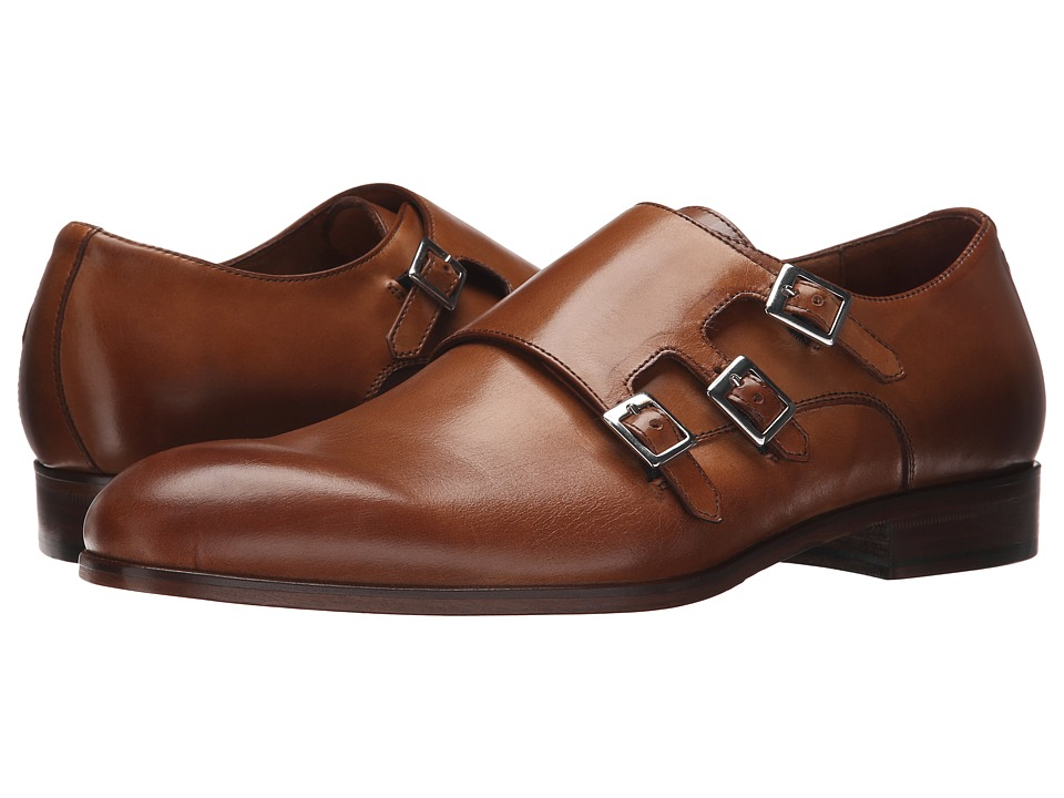 Massimo Matteo - Triple Monk Strap (Brandy) Men's Monkstrap Shoes
