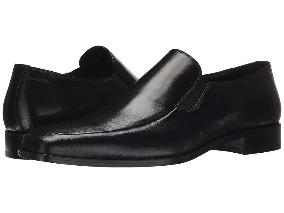 Massimo Matteo - Nappa Moc Toe Slip-On (Black) Men's Slip-on Dress Shoes