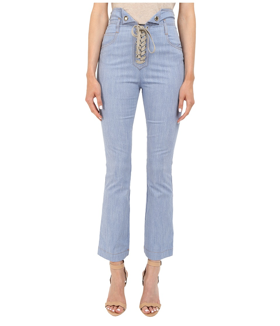 Just Cavalli - Tie Front Five-Pocket Pants (Blue Denim) Women