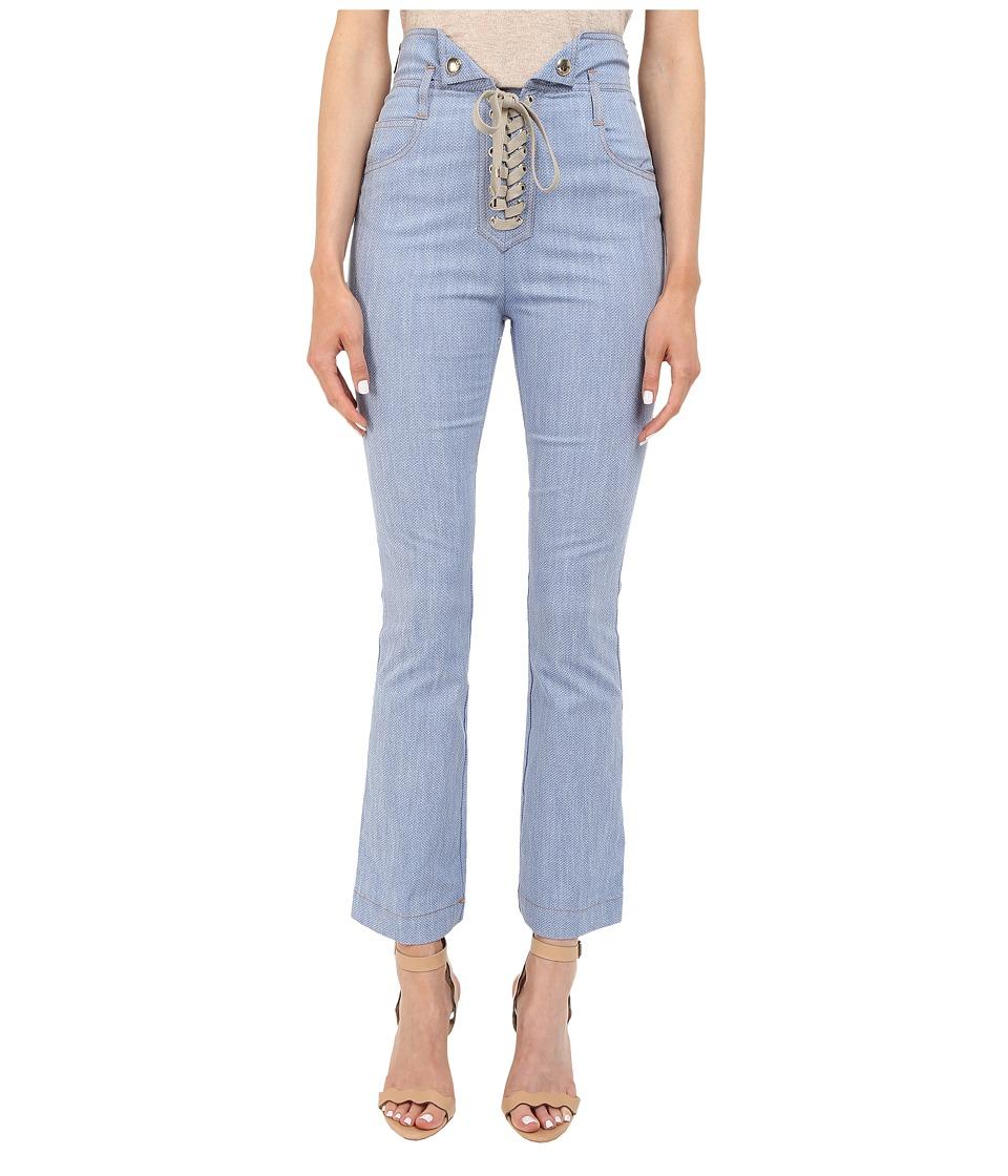 Just Cavalli - Tie Front Five-Pocket Pants (Blue Denim) Women's Casual Pants