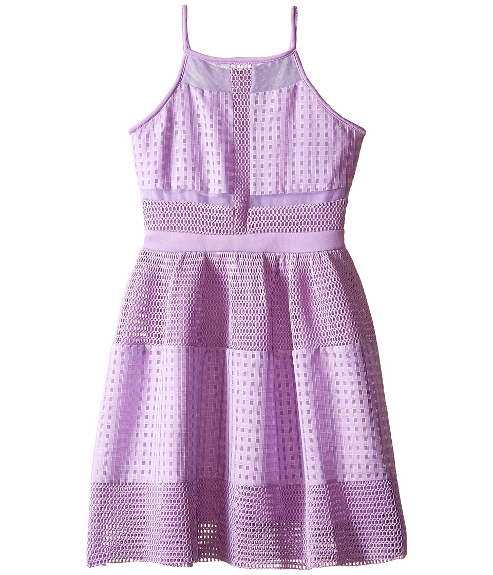 Marciano Kids - Oversized Mesh Dress (Big Kids) (Lilac) Girl's Dress