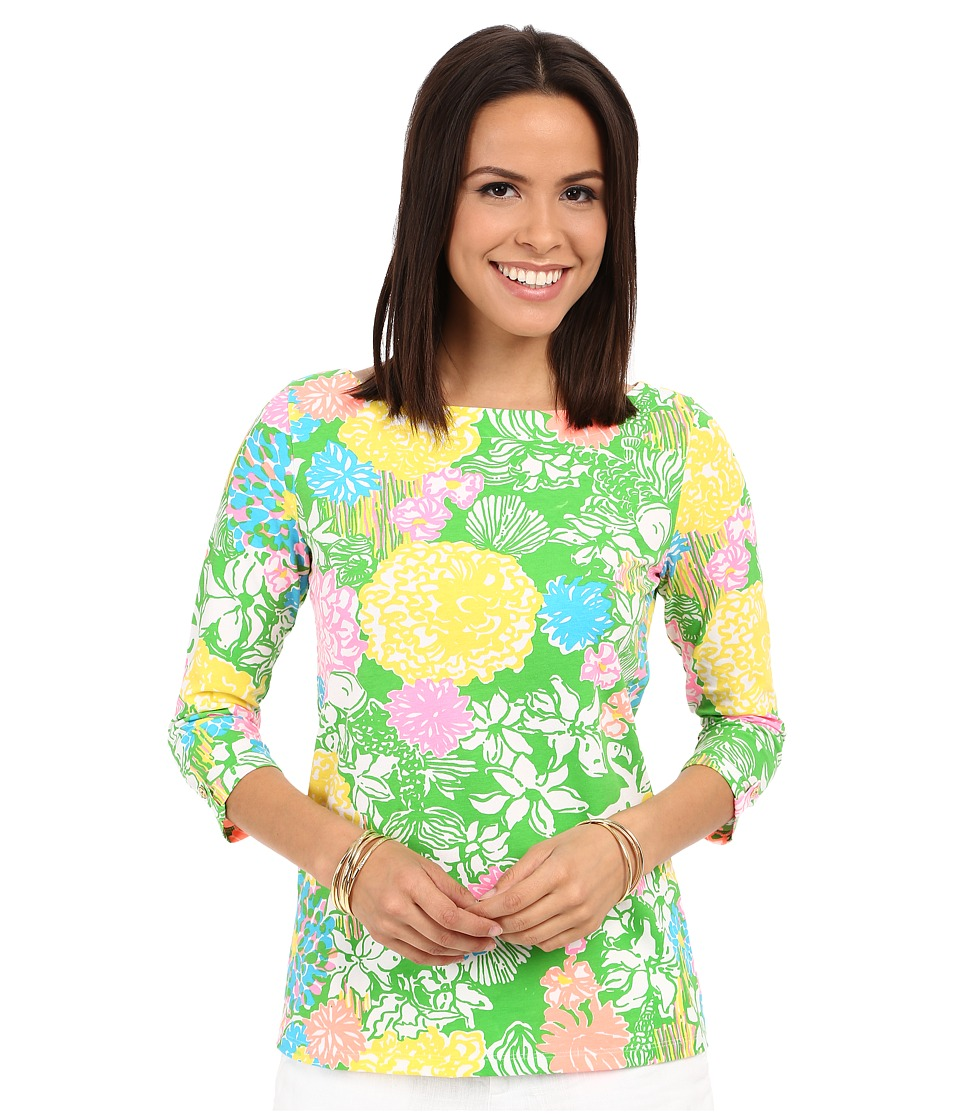 Lilly Pulitzer - Juline Top (Multi Hibiscus Stroll) Women's Clothing