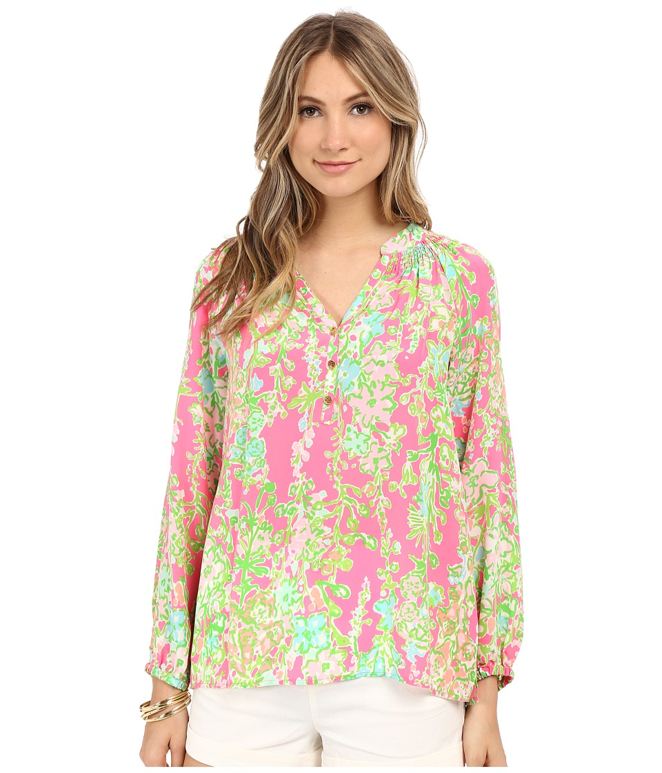 Lilly Pulitzer - Elsa Top (Flamingo Pink Southern Charm) Women's Blouse