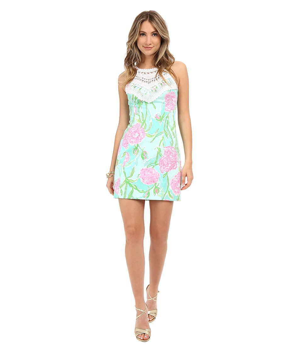 Lilly Pulitzer - Pearl Shift Dress (Poolside Blue Going Stag) Women's Dress