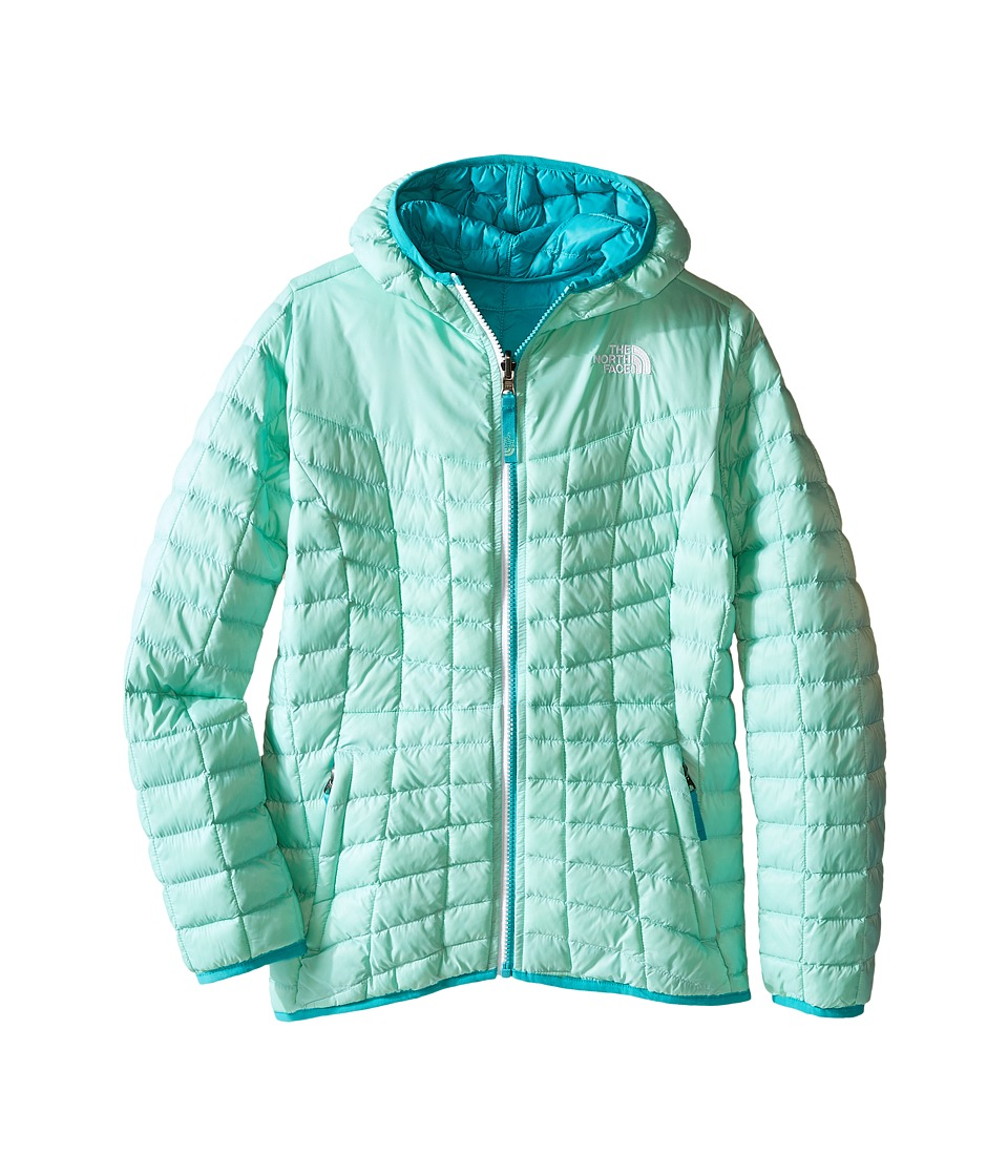 The North Face Kids - Reversible Thermoball Hoodie (Little Kids/Big Kids) (Ice Green) Girl's Sweatshirt