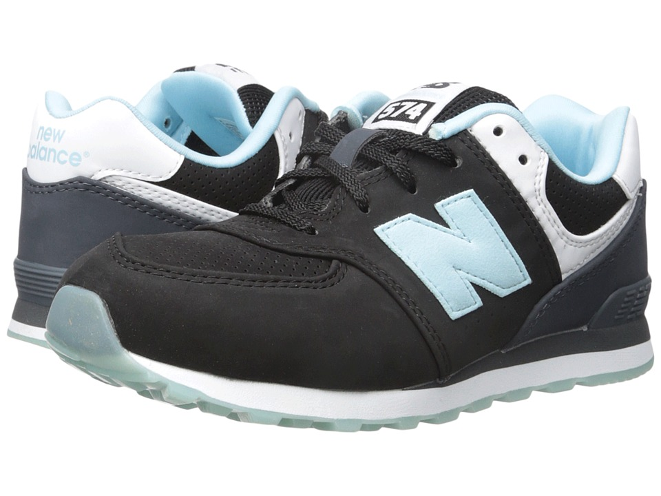 New Balance Kids - State Fair 574 (Big Kid) (Black/Blue) Kids Shoes