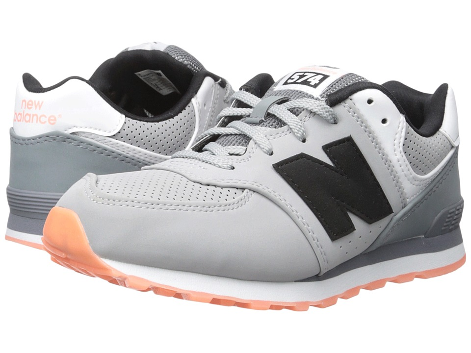 New Balance Kids - State Fair 574 (Big Kid) (Grey/Black) Kids Shoes