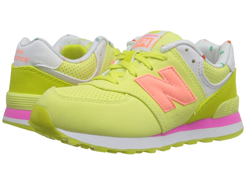New Balance Kids - State Fair 574 (Little Kid) (Yellow/Pink) Girls Shoes
