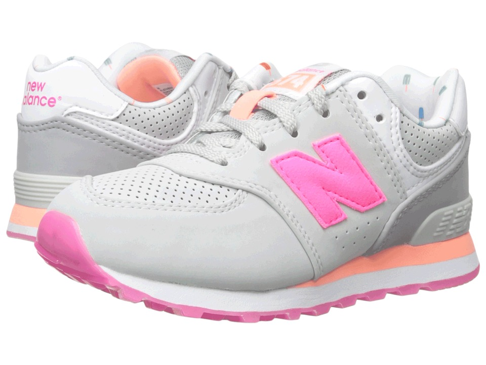 New Balance Kids - State Fair 574 (Little Kid) (Grey/Pink) Girls Shoes