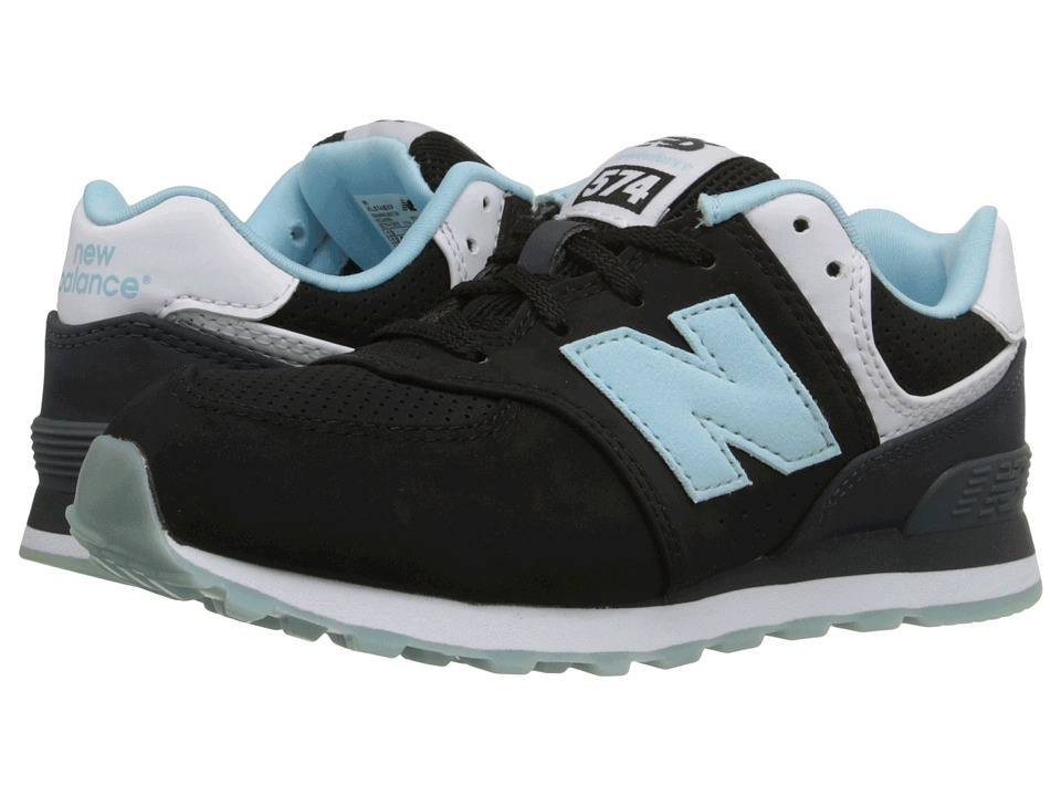 New Balance Kids - State Fair 574 (Little Kid) (Black/Blue) Kids Shoes
