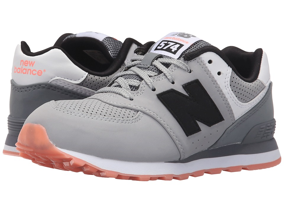 New Balance Kids - State Fair 574 (Little Kid) (Grey/Black) Kids Shoes