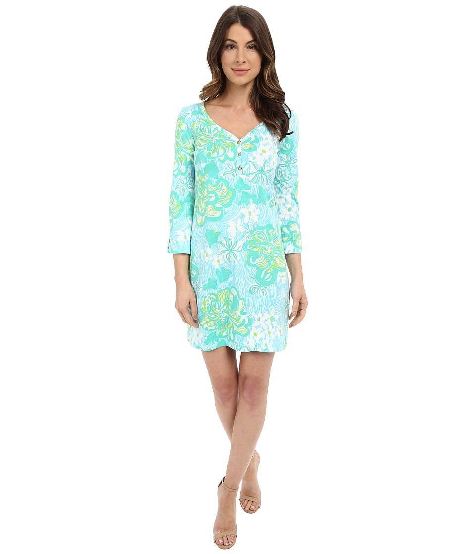 Lilly Pulitzer - Palmetto Dress (Lagoon Green Wave Rider) Women's Dress