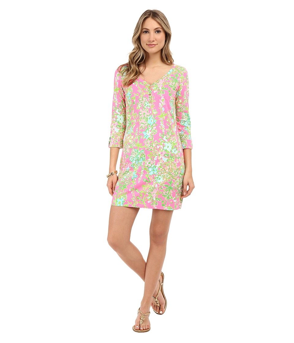 Lilly Pulitzer - Palmetto Dress (Flamingo Pink Southern Charm) Women's Dress