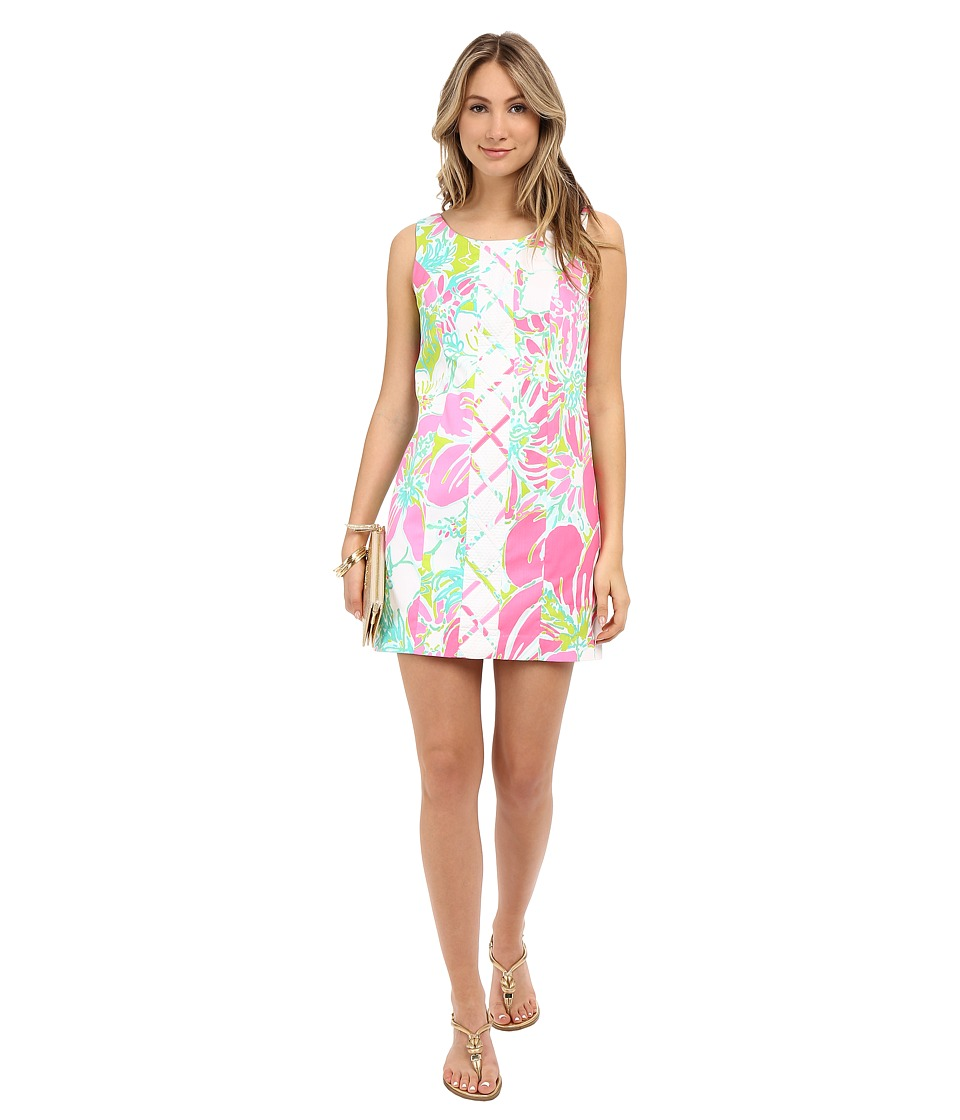 Lilly Pulitzer - Cathy Shift Dress (Flamingo Pink Don't Give A Cluck) Women's Dress
