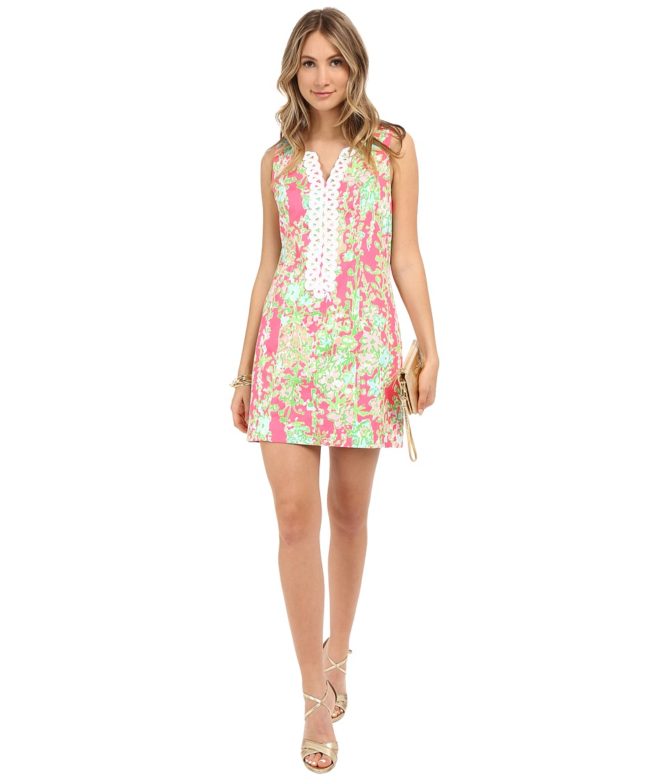 Lilly Pulitzer - Cathy Shift Dress (Flamingo Pink Southern Charm) Women's Dress