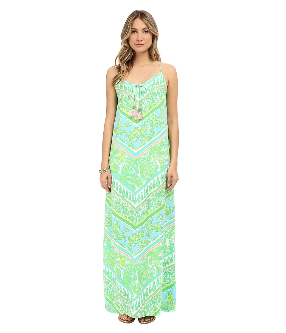Lilly Pulitzer - Philomena Maxi Dress (Green Sheen On Point Engineered) Women's Dress