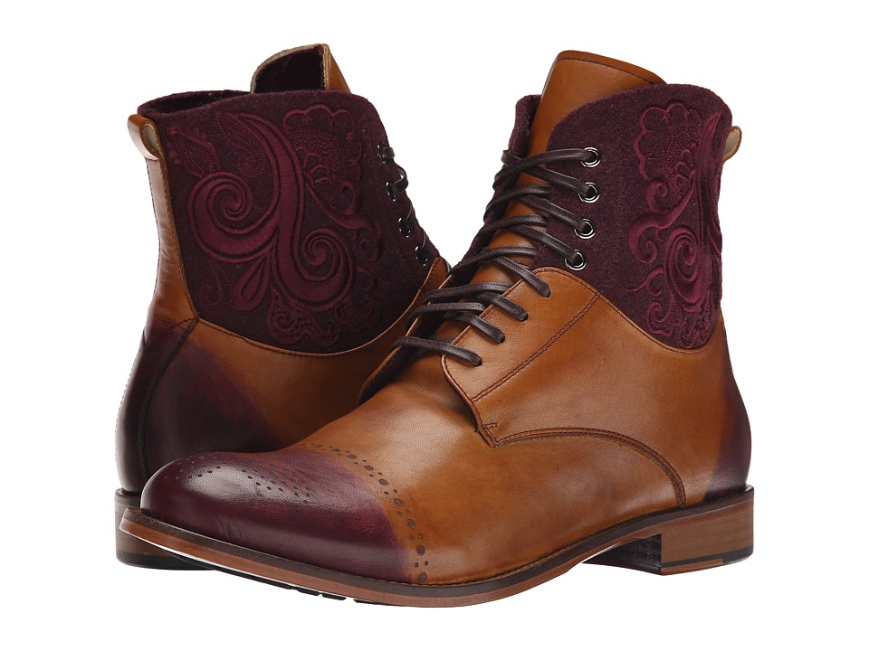 Robert Graham - Windsor (Cognac/Bordeaux) Men's Lace-up Boots