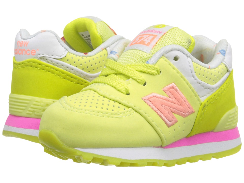 New Balance Kids - State Fair 574 (Infant/Toddler) (Yellow/Pink) Girls Shoes