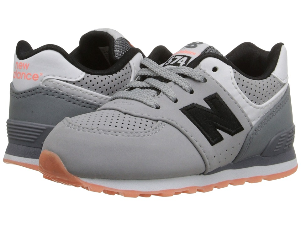 New Balance Kids - State Fair 574 (Infant/Toddler) (Grey/Black) Kids Shoes