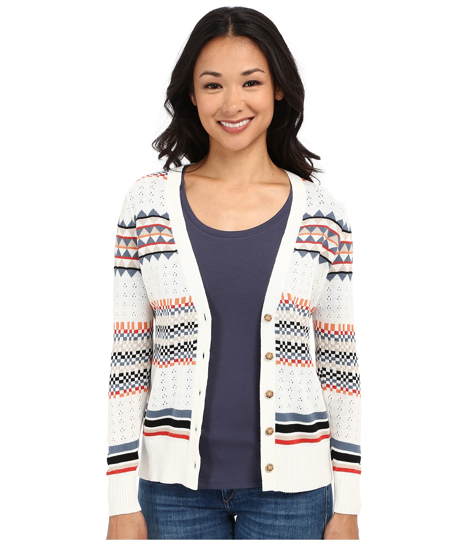 Pendleton - Petite Stripe Cardigan (Ivory Multi) Women's Sweater