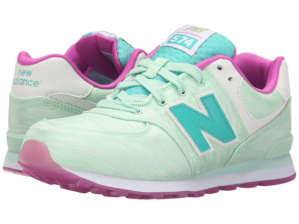 New Balance Kids - Summer Waves 574 (Big Kid) (Teal/Teal) Boys Shoes