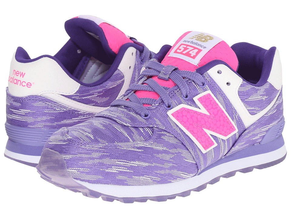 New Balance Kids - Summer Waves 574 (Big Kid) (Purple/Purple) Boys Shoes