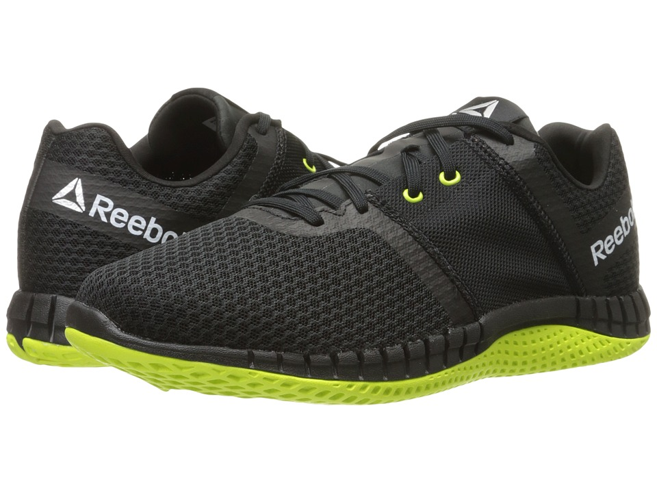 Reebok - ZPrint Run EX (Black/Coal/Solary Yellow/White) Men's Shoes