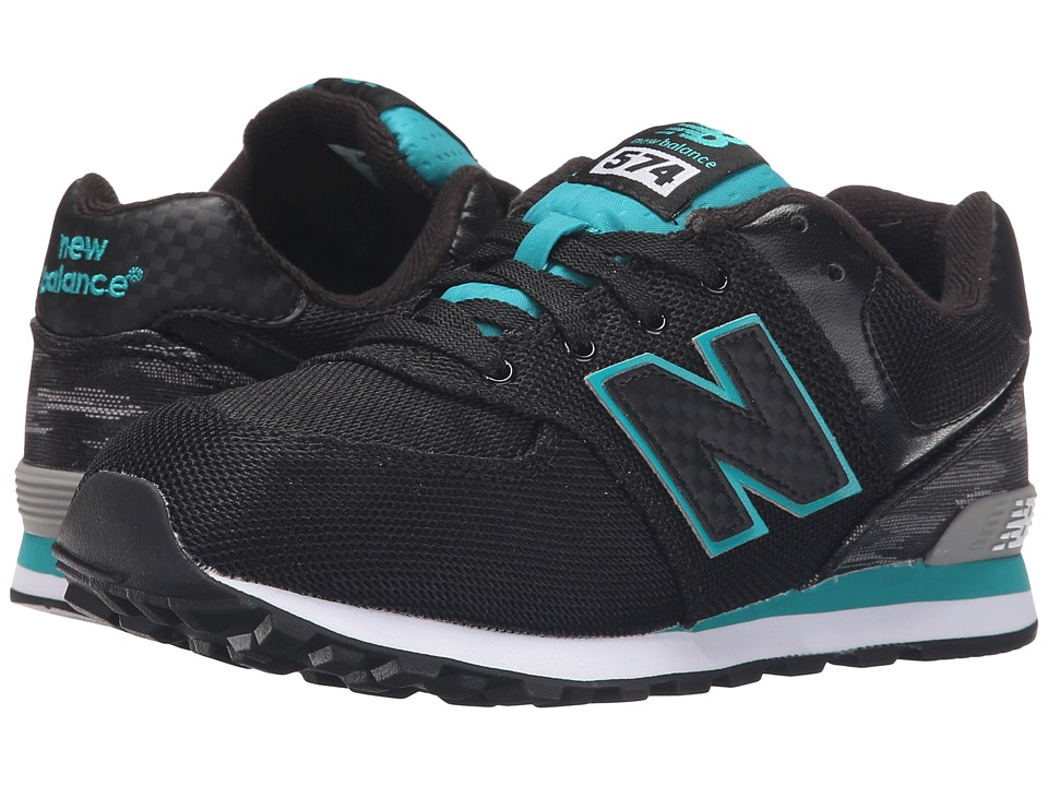 New Balance Kids - Summer Waves 574 (Big Kid) (Black/Green) Boys Shoes
