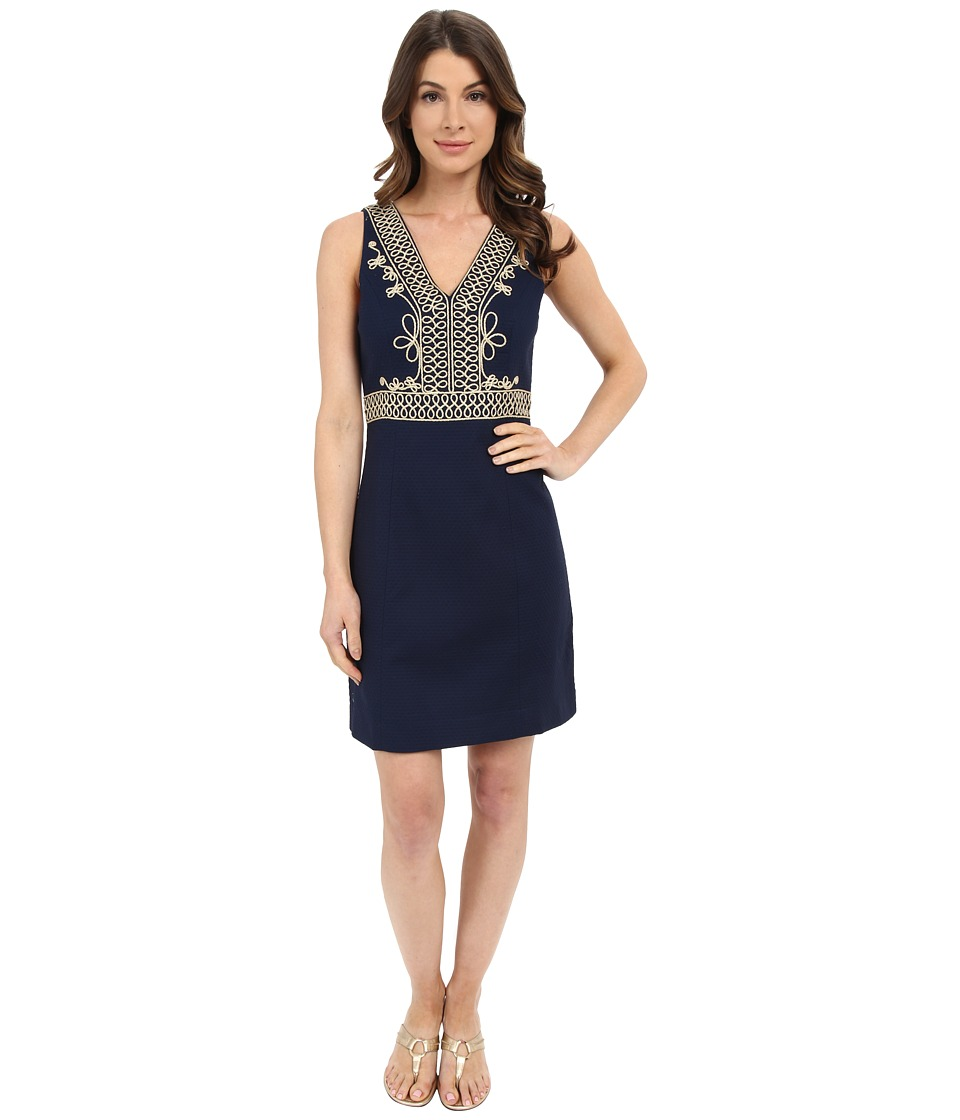 Lilly Pulitzer - Aveline Shift Dress (True Navy) Women's Dress