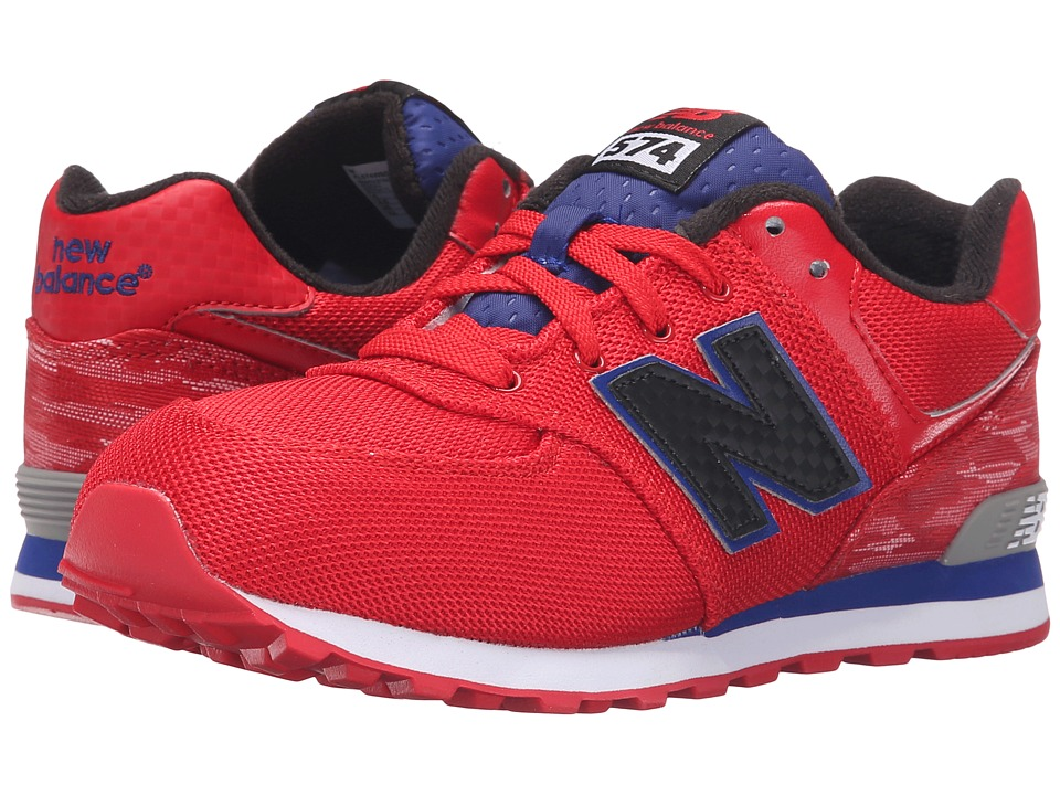 New Balance Kids - Summer Waves 574 (Big Kid) (Red/Blue) Boys Shoes