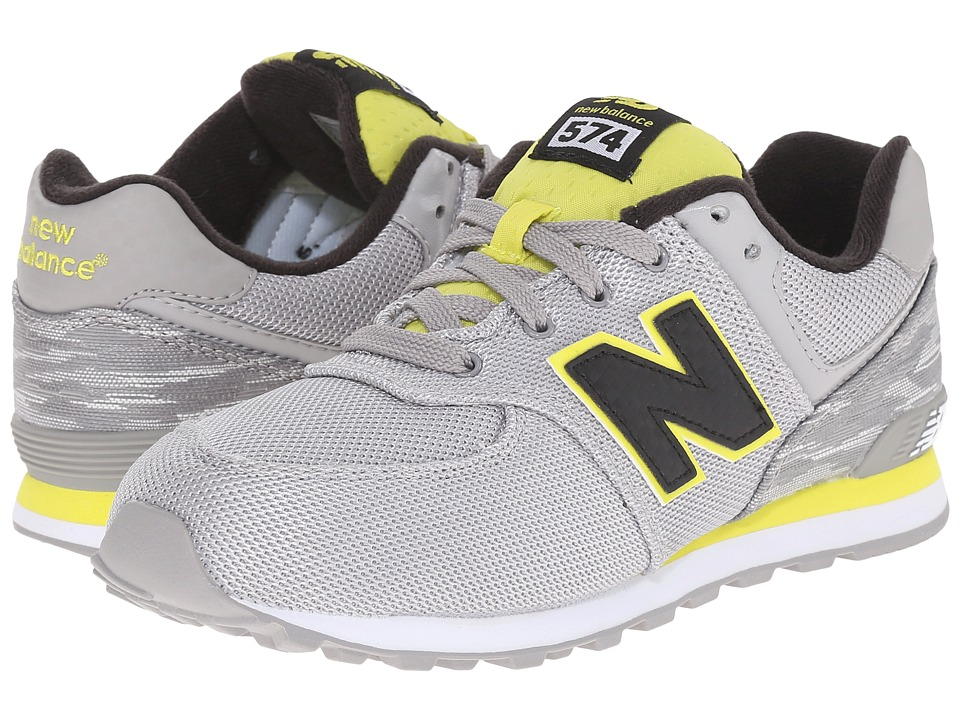 New Balance Kids - Summer Waves 574 (Big Kid) (Grey/Yellow) Boys Shoes