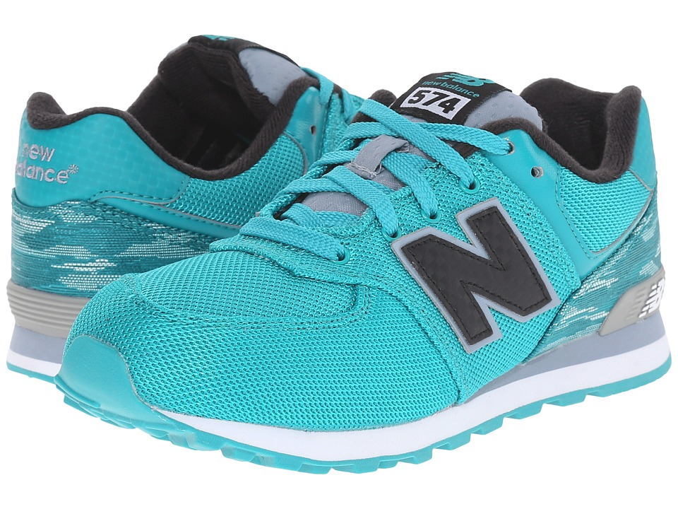 New Balance Kids - Summer Waves 574 (Big Kid) (Blue/Blue) Kids Shoes