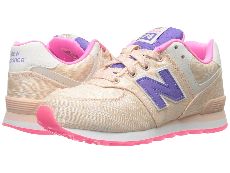 New Balance Kids - Summer Waves 574 (Little Kid) (Pink/Pink) Girls Shoes