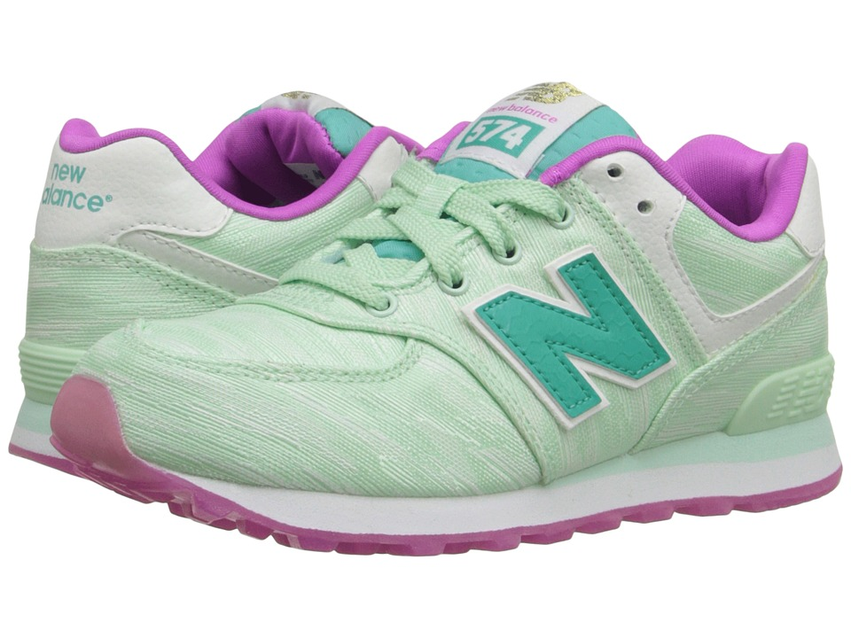 New Balance Kids - Summer Waves 574 (Little Kid) (Teal/Teal) Girls Shoes