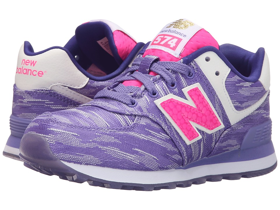 New Balance Kids - Summer Waves 574 (Little Kid) (Purple/Purple) Girls Shoes