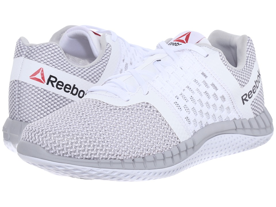 Reebok - ZPrint Run (White/Steel/Shark) Women's Running Shoes
