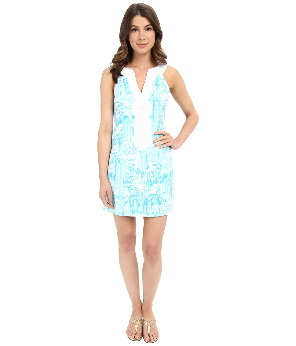 Lilly Pulitzer - Valli Shift Dress (Resort White La Via Loca) Women's Dress