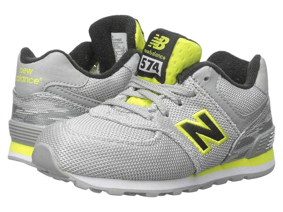 New Balance Kids - Summer Waves 574 (Infant/Toddler) (Grey/Yellow) Boys Shoes