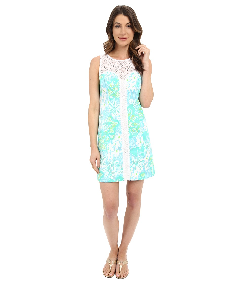 Lilly Pulitzer - Sofia Shift Dress (Lagoon Green Wave Rider) Women's Dress